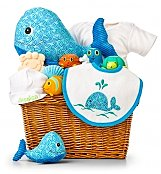 Personalized Keepsake Gifts: Under the Sea Baby Bath Embroidered Gift Set