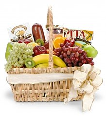 Fruit Gift Baskets: New Baby Gourmet Fruit Basket