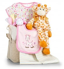 Baby Gift Baskets: Jungle Adventure Baby Gift Set-Girl